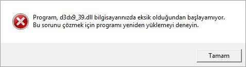 d3dx9_39.dll hatası