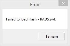 RADS.swf hatası